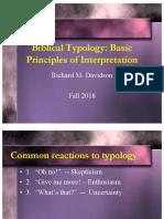 Biblical Typology - Basic Principles of Interpretation