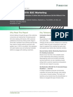 FORRESTER 2019 B2C PREDICTIONS