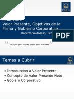 Finanzas I - C03 - Valor Presente y Objetivos Corporativos.pptx