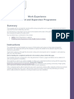 Student Work Experience Diary Template