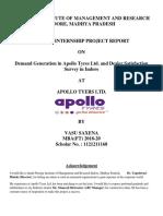 Projest Report Apollo Tyres