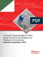 Estudio de Consumo de Drogas - Colombia y America