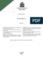 Caderno de provas psicólogo Concurso Prefeitura de São Carlos 2010