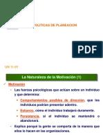Estrategias y Politicas de Planeacion - Motivacion