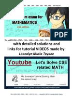 200 Item Math Exam (for practice)