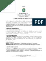 Edital IX Feira Estadual de Ciência e Cultura 2015