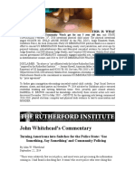 John Whitehead Turning Americans Into Snitches for Police State_'See Something Say Something and Community Policing
