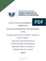 Indice Trabajo de Concreto Final Xdxdxd