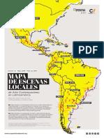 MAPA de ESCENAS LOCALES de Arte Contemporáneo en Latinoamérica