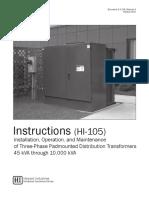 2-4-126 Three Phase Padmounted Transformer Instruction Manual