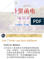 Unit 7 Order and their fulfillment.ppt