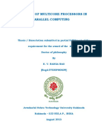 Effect of multi-core processors in parallel computing PHD thesis