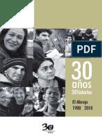 Libro El Abrojo 30 Años 30 Historias