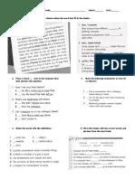 Business English Unit Review Test