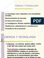 U 01 Ciencia y Tecnología