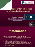 Orden en El Caos. Historia de Los Numeros Poligonales y Otros - Perez Sanz