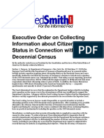 Executive Order on Collecting Information about Citizenship Status in Connection with the Decennial Census