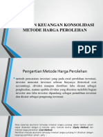 Laporan Keuangan Konsolidasi Metode Harga Perolehan