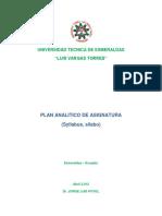 Modelo de Sílabo Universidad Tecnica de Esmeraldas