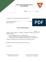 ModelocartaRecomendación-Mayordomía
