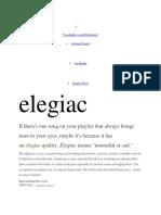 Elegiac