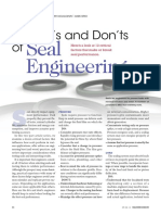 Dos and Donts for Seal Engineering (Esp ROD SEALS)