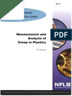 MGPG 2 - Measurement and Analysis of Creep in Plastics