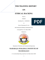 Report on Ethical Hacking