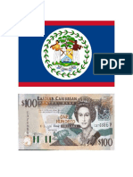 Banderas de Centroamerica Con Sus Moneda Ilustracion