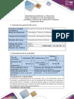 Guía de Actividades y Rúbrica de Evaluación - Postarea Evaluación Final