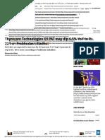 Thyrocare Technologies Q1 PAT May Dip 6.5% YoY to Rs. 22.1 Cr_ Prabhudas Lilladher - Moneycontrol.com