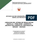 Perfil Del Proyecto Hatun Huaylla - Octubre Del 2012