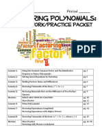 Factoring Practice Packet 2017-2018