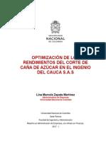 Tesis - Lina M Zapata COSECHA Incauca- Caña