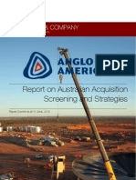 Mergers and Acquisitions Assignment - Report on Australian Merger of Anglo American