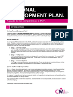 Cmi Guide to Completion of a Pdp May 2017