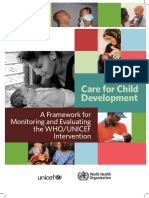 A Framework for Evaluating the Care for Child Development