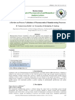 A Review on Process Validation of Pharmaceutical Manufacturing Processes - PDF