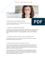 Relación Entre La Salud Dental y La Gripe