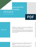 Sanciones que prevé la Ley de Inversiones Extranjeras.pptx
