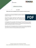 11-07-2019 CREE de DIF Sonora suspenderá servicios en periodo vacacional de verano