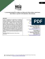 O (Re) Conhecimento Da Cultura Na Educação Física Latino-Americana - Uma Leitura a Partir de Documentos Educacionais