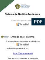 Sistema de Gestión Académica Docentes registrados