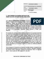 Contestacion Demanda Ordinaria Civil Juzgado Primero Civil de Los Reyes 7312017