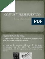 Conceptos Introductorios de Costos y Presupuestos I