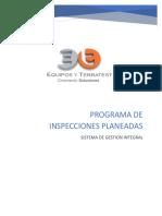 Programa de Inspecciones Planeadas