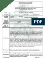 Programa Sistemas de Gestión Ambiental