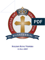 200th Anniversary Vespers 2019