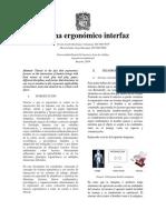 Sistema Ergonómico Interfaz
