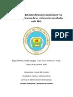 Informe Conferencia Bolsa de Valores de Quito